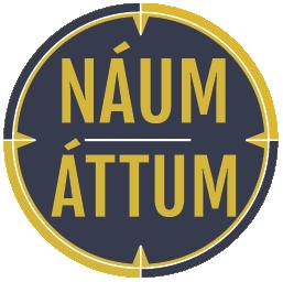 Náum áttum Logo